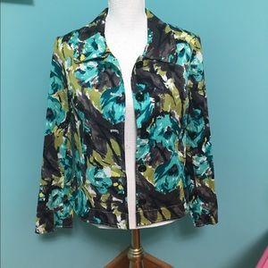 NWOT RQT floral  jacket